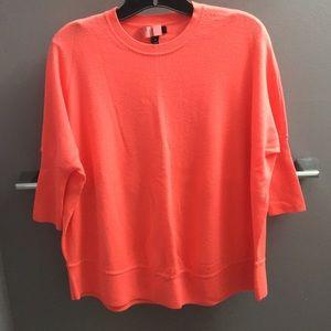 J.Crew neon pink merino wool sweater